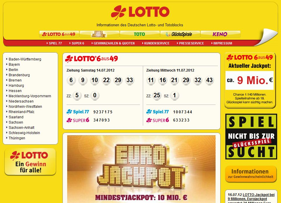 lotto über internet