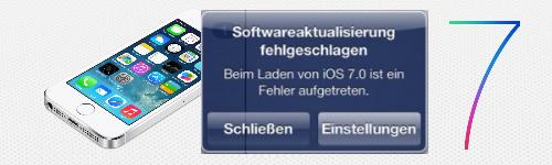 iOS7Fehler