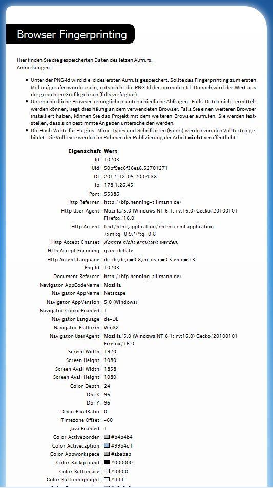 BrowserFingerprint