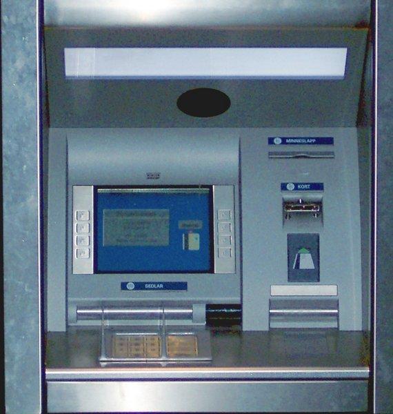 Bankomat på Nils Ericson Terminalen i Göteborg