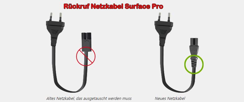 SurfaceProNetzkabelRueckruf