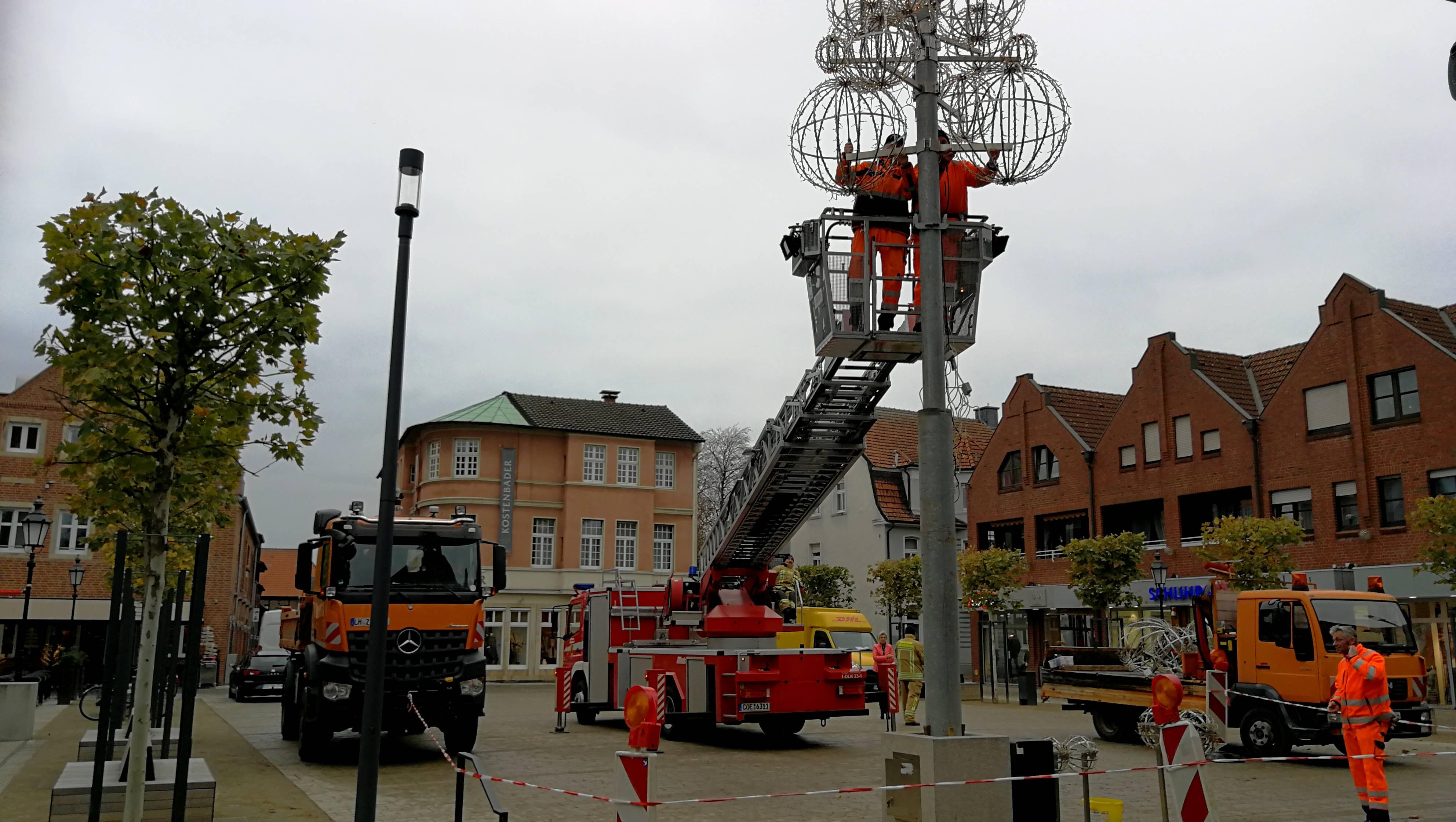 Weihnachtsbaum in Lüdinghausen